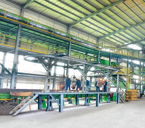 垂直自动造型生产线